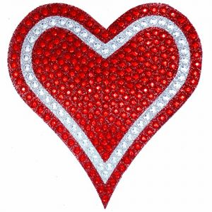 rhinestone bling heart decal