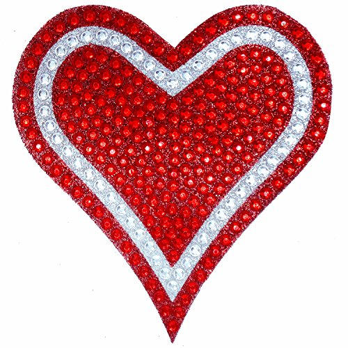 rhinestone bling heart decal