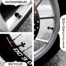 Sparkle-Rider-Valve-Stem-Caps-Custom-Iron-Cross-Black-silver-chrome-color-metal-air-cap-fits-Schrader-valves-Cool-tire-rim-accessories-for-your-car-motorcycle-or-bicycle-wheels-4-pc-set-0-1