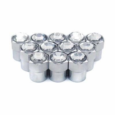 crystal rhinestone bling tire valve caps