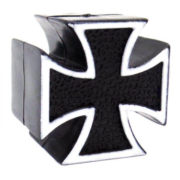 black iron cross tire valve caps