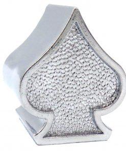 silver spade tire valve caps